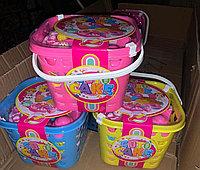 Детская посудка в корзинке