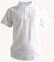 Рубашка поло белая, 200гр, 100% хлопок, вязка
