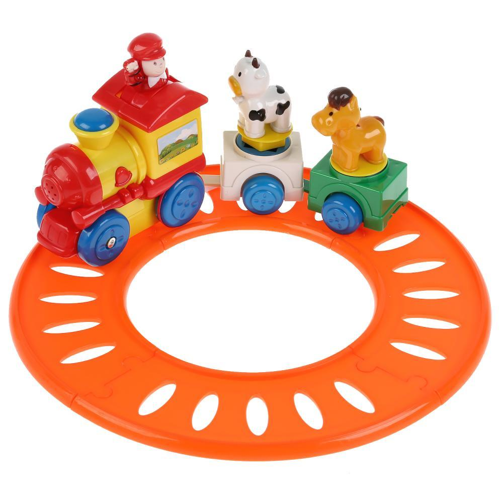 Умка Музыкальная игрушка «Развивающий паровозик» 20 веселых песен, потешек.