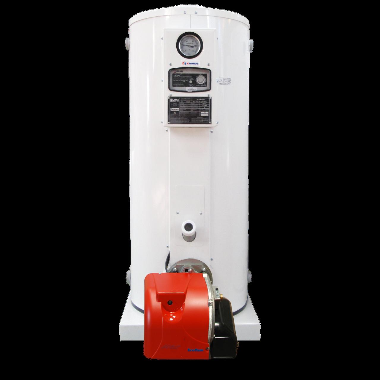 Котёл Cronos BB-735 (81 кВт) для отопления и ГВС на жидком топливе в комплекте с горелкой (Южная Корея)