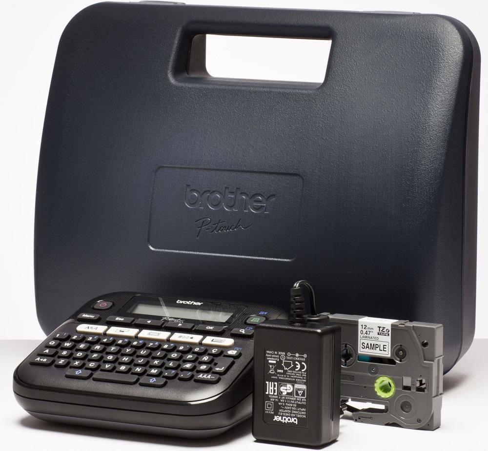 Принтер маркиратор Brother P-Touch  PT-D210VP (печать на 6, 9,12мм лентах,термоусадке), кейс, сетевой адаптер