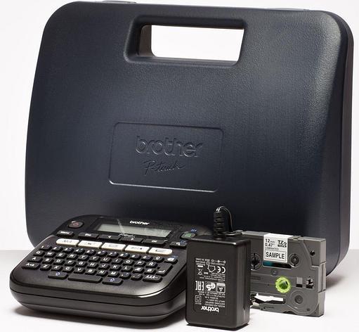 Принтер маркиратор Brother P-Touch  PT-D210VP (печать на 6, 9,12мм лентах,термоусадке), кейс, сетевой адаптер, фото 2