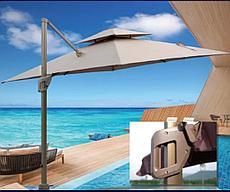 Зонт уличный квадратный Relax (3х3м), бежевый с утяжелителями