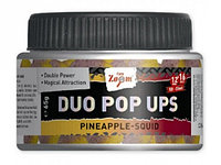 Бойлы насадочные двухцветные CZ Duo Pop Ups, 12&16mm, 65g, слива-осьминог (65г, слива-осьминог)