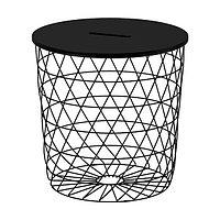Столик КВИСТБРУ черный 44 см ИКЕА, IKEA