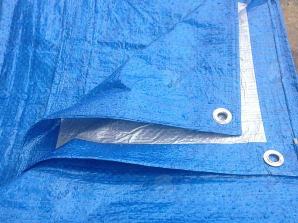 Полог тарпаулиновый утеплённый, 120 гр/м2, 4х15 м