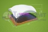 Арочный шатёр 10х10 м
