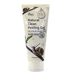 Ekel Peeling Gel 180 мл Black Snail Пилинг для лица с экстрактом улиточного муцина