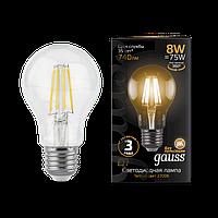 Лампа Gauss Filament А60 8W 740lm 2700К Е27 LED