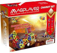 MagPlayer Детский магнитный конструктор 66 элемента деталей