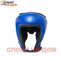 Шлем для кикбокса Twins (синий-кожа) М