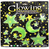 Фосфорные наклейки звезды 2 луны Glowing 663