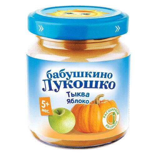 Лукошко Пюре Тыква и Яблоко 100 гр с 5 мес