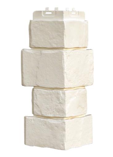 Угол наружный Молочный 170х415 мм Крупный камень,серия Стандарт (моноцвет) Grand Line