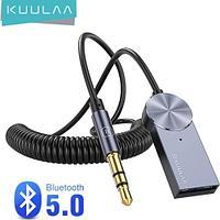 KUULAA фирменный Aux Bluetooth адаптер для автомобиля 5,0 музыкальный передатчик