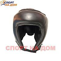 Шлем Twins для кикбокса (черный-кожа) М