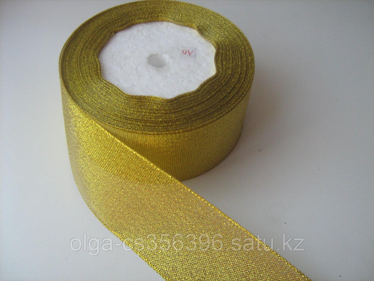 Лента парча - золото. 4 см. Creativ  682