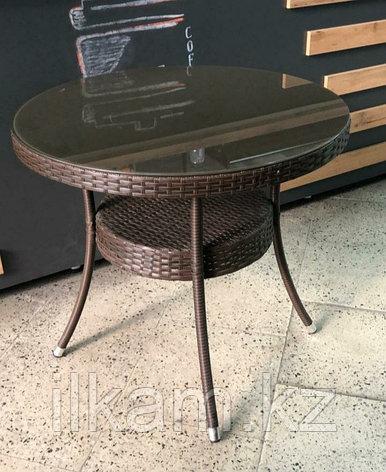 Плетеный стол на металлическом каркасе, фото 2