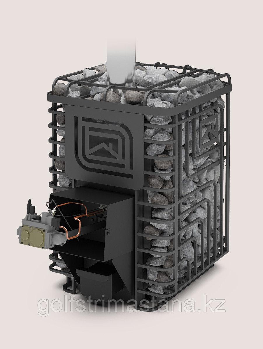 Печь-каменка, (до 20 м3), газовая, Сибирский утес-20 ЛП Профи с АГГ 40П