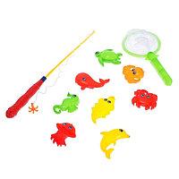 Рыбалка магнитная «Морские жители» 10 предметов: 1 удочка, 1 сачок, 8 игрушек, цвета МИКС