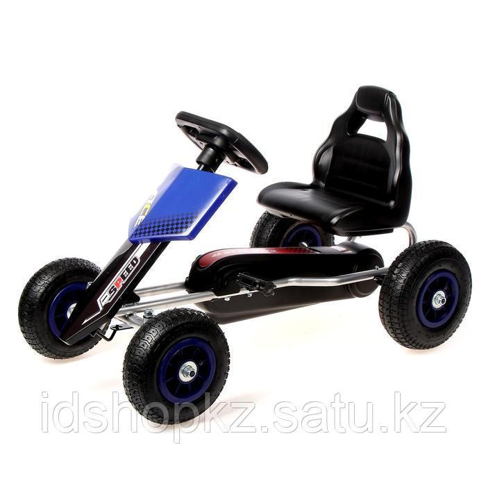 Веломобиль HOT CAR, пневматические колеса, цвет синий - фото 1