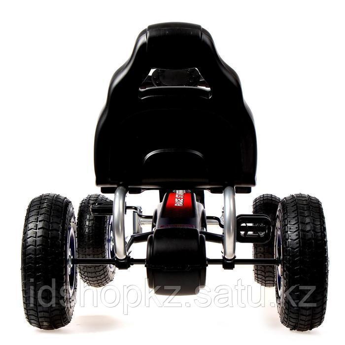 Веломобиль HOT CAR, пневматические колеса, цвет синий - фото 5