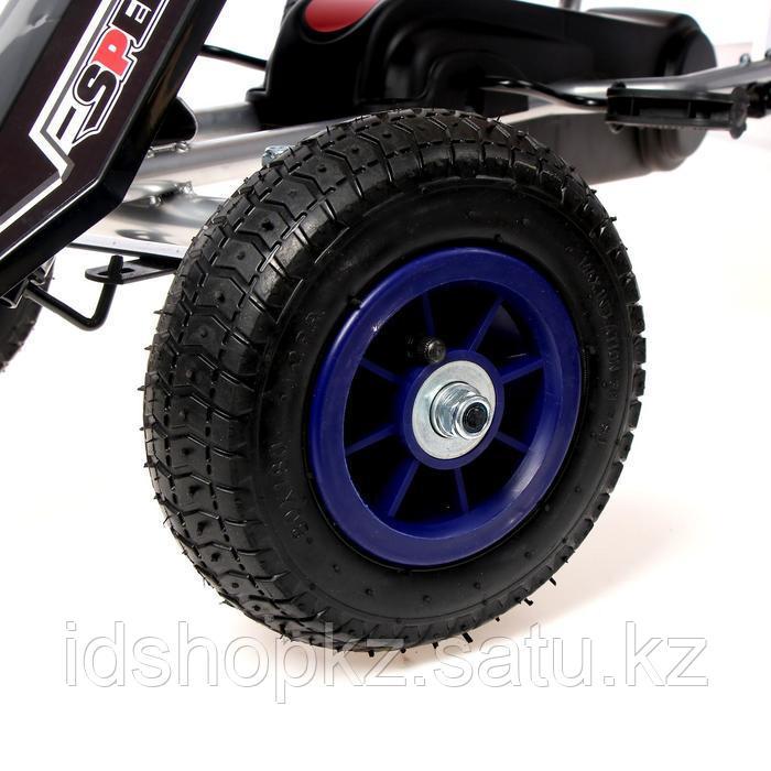 Веломобиль HOT CAR, пневматические колеса, цвет синий - фото 8
