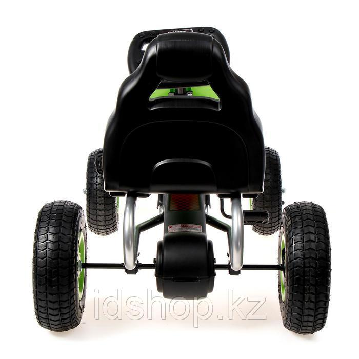 Веломобиль HOT CAR, пневматические колеса, цвет зелёный - фото 5