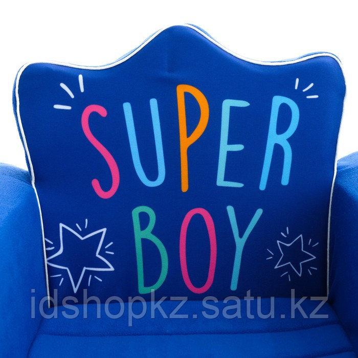 Мягкая игрушка-кресло Super Boy, цвет синий - фото 4