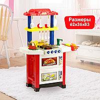 Игровой модуль «Кухня для Шефа» с аксессуарами, световые и звуковые эффекты, бежит вода из крана, 33 ...