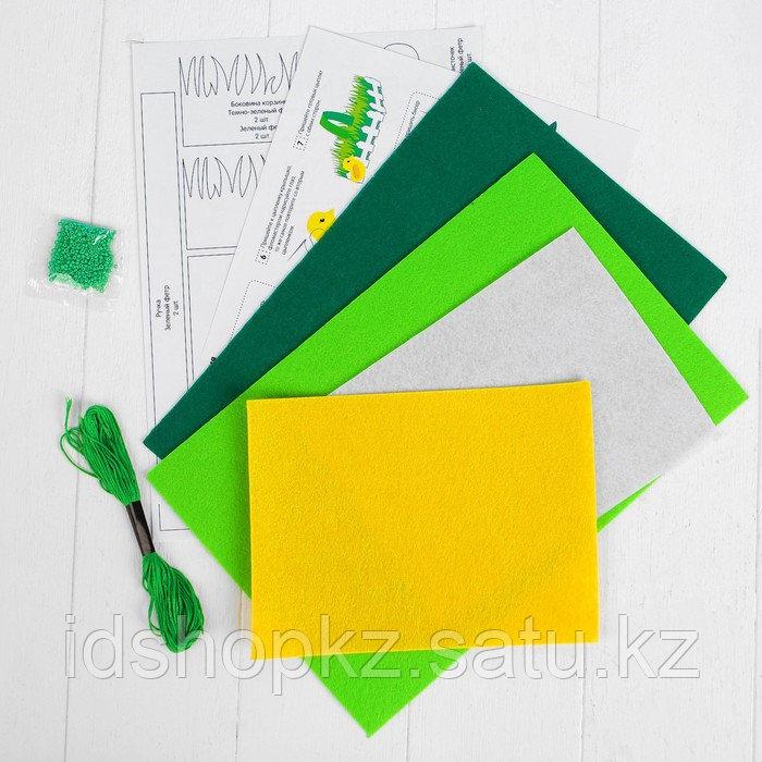 Набор для создания пасхальной корзинки из фетра «Лужайка» - фото 4