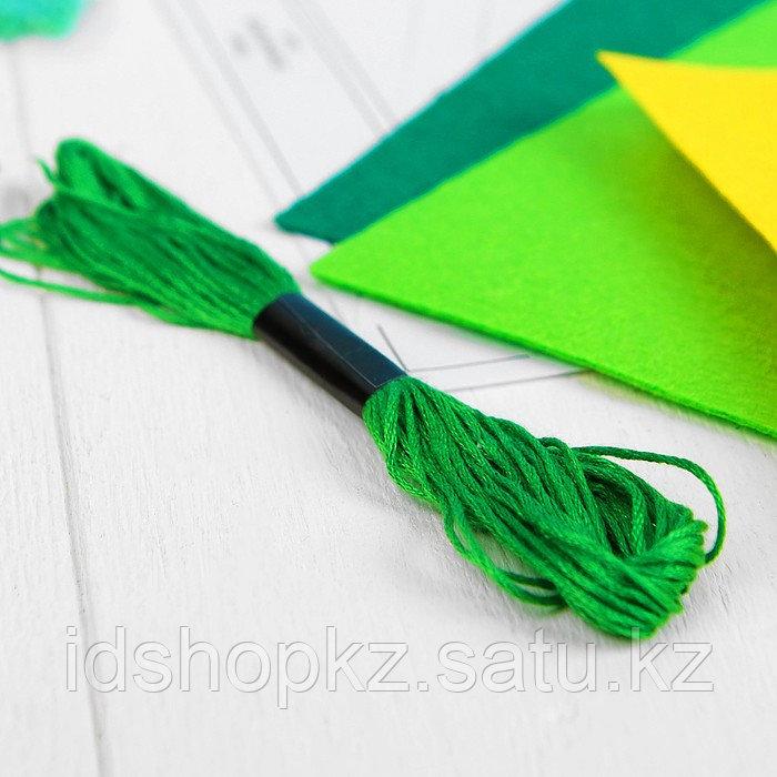 Набор для создания пасхальной корзинки из фетра «Лужайка» - фото 5