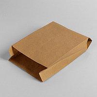 Пакет бумажный фасовочный, крафт, V-образное дно 30 х 17 х 7 см
