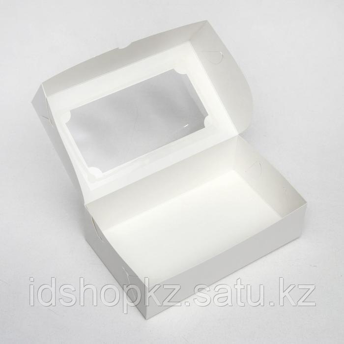 Коробка складная под зефир,белый, 25 х 15 х 7 см - фото 2