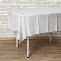 Скатерть «Праздничный стол», 137х183 см, цвет белый