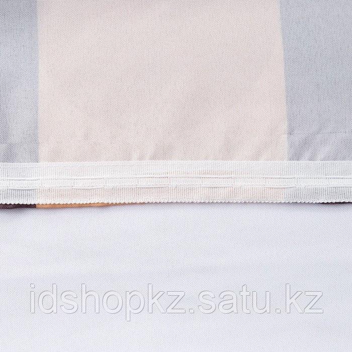 Комплект штор для окон с балконной дверью «Любимый город» штора 147х267 см, тюль 294х160 см - фото 4