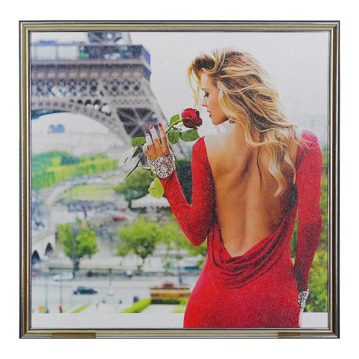 """Картина """"Дама в красном"""" 52*52 см"""