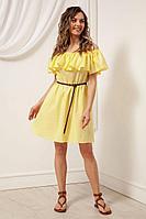 Женское летнее хлопковое желтое платье Nova Line 50105 желтый 42р.