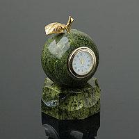 """Часы """"Яблоко"""", на подставке, 7,5х13 см, змеевик"""
