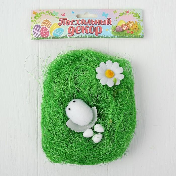 """Набор для создания гнезда с декором для пасхальных яиц """"Цыпа с цветочком"""""""