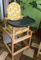 СЕНС-М Стул-стол для кормления СТД 07 пластиковая столешница Кошки желтый