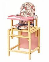 СЕНС-М Стул-стол для кормления СТД 07 пластиковая столешница Розовый, фото 1