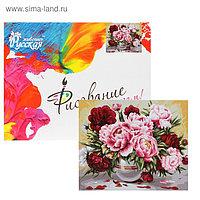 Картина по номерам «Садовые пионы» 40 × 50 см, холст, 24 цвета