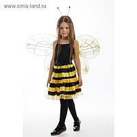 Карнавальный костюм «Пчёлка», юбка, обруч, крылья, рост 122-128 см