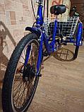 """48v 350w, аккум. Li-ion 48v 30A/H. Электровелосипед трехколесный. Вес 30 Кг. Колеса 24""""., фото 4"""