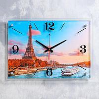 """Часы настенные """"Увидеть Париж"""" 40х56 см, плавный ход"""