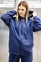 Женский осенний трикотажный голубой спортивный спортивный костюм GO F3008/20-01.170-176 44р.