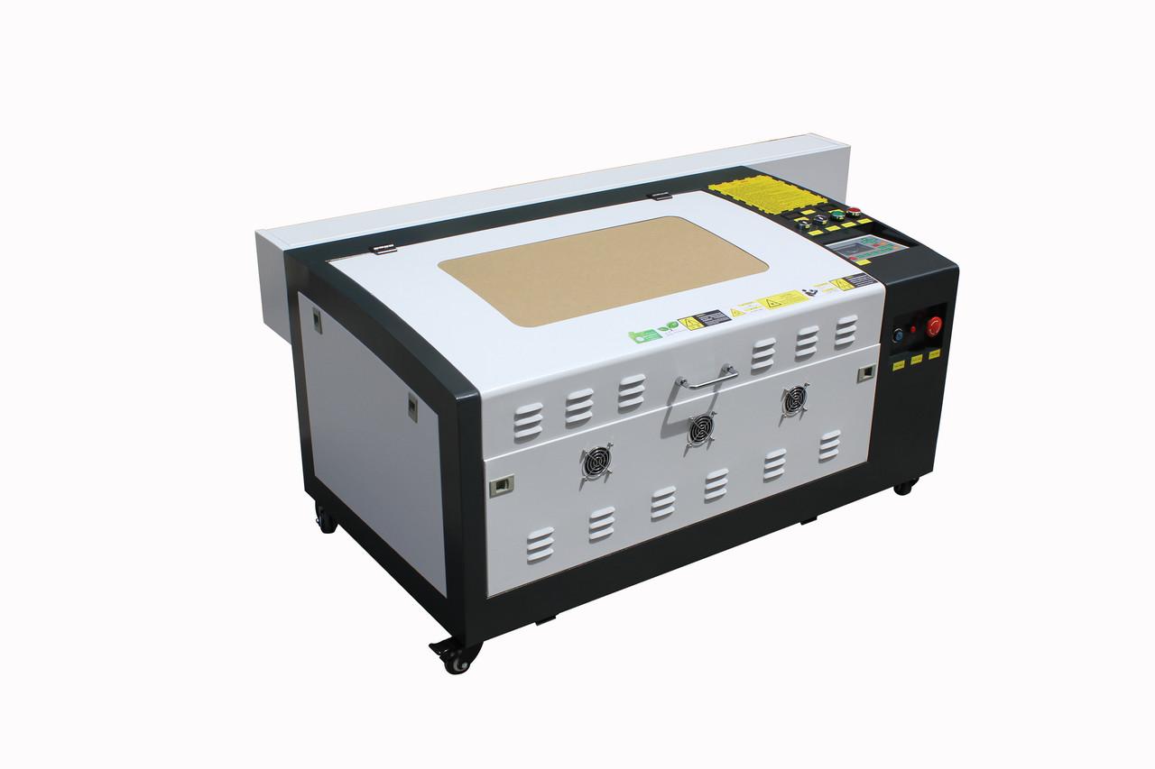 Лазерный станок AL60*40cm RuiDa 100W Reci (мультифункциональный) (МЕТАЛЛИЧЕСКИЕ НАПРАВЛЯЮЩИЕ)