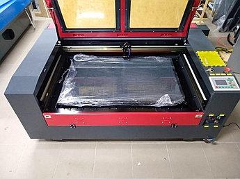 Лазерный станок 100*60cm Ruida 100W Reci (МЕТАЛЛИЧЕСКИЕ НАПРАВЛЯЮЩИЕ)сквозной пропуск