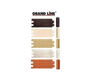 Фасадные панели Состаренный кирпич, серия Стандарт (моноцвет) Grand Line